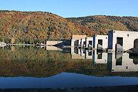Wasserkraftwerk am Haus am Strom im Bayer. Wald